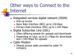 other ways to connect to the internet