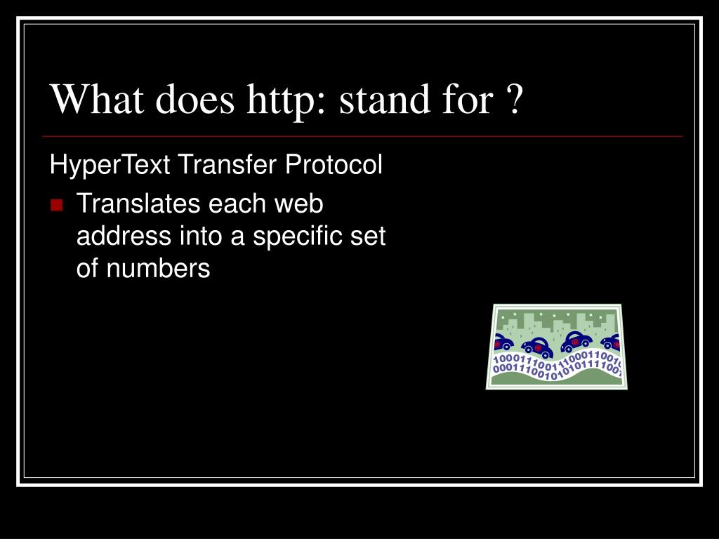 What does http: stand for ?