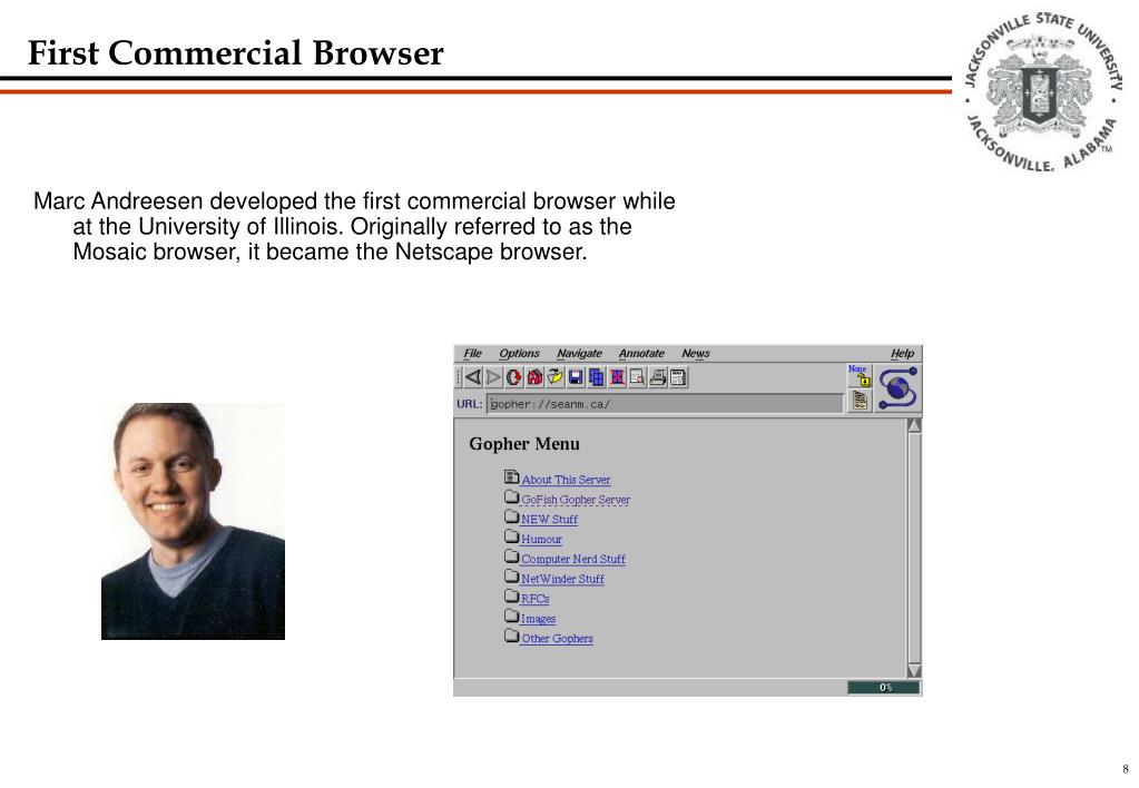 First Commercial Browser