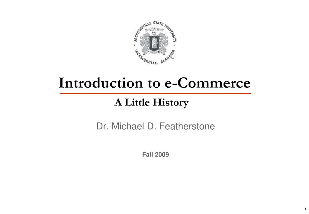 introduction to e commerce l.