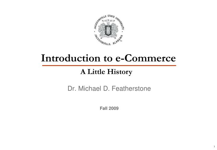 Introduction to e commerce