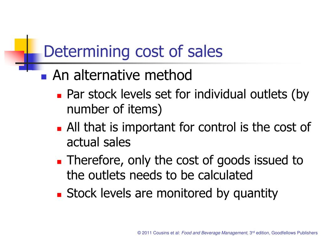 Determining cost of sales