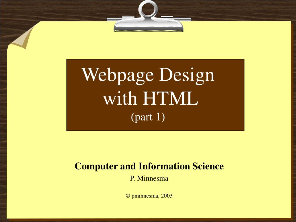 webpage design with html part 1