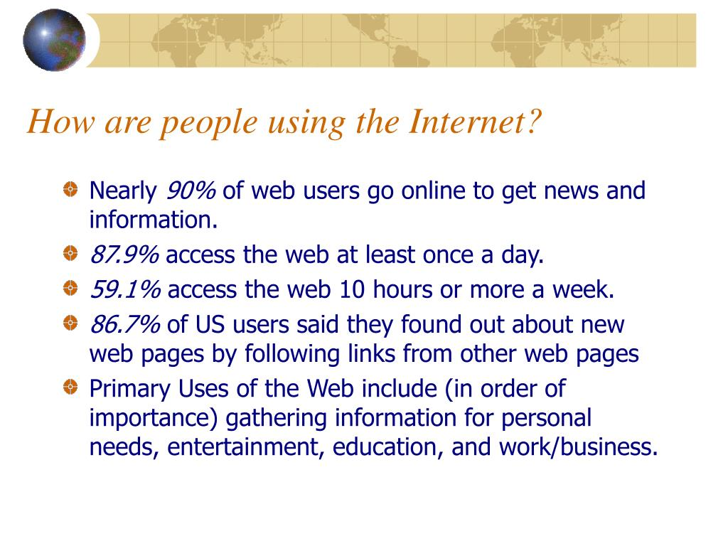 How are people using the Internet?