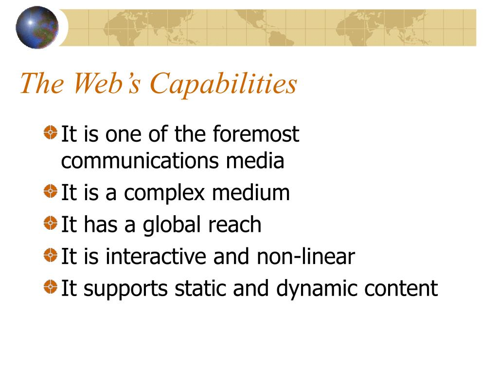 The Web's Capabilities