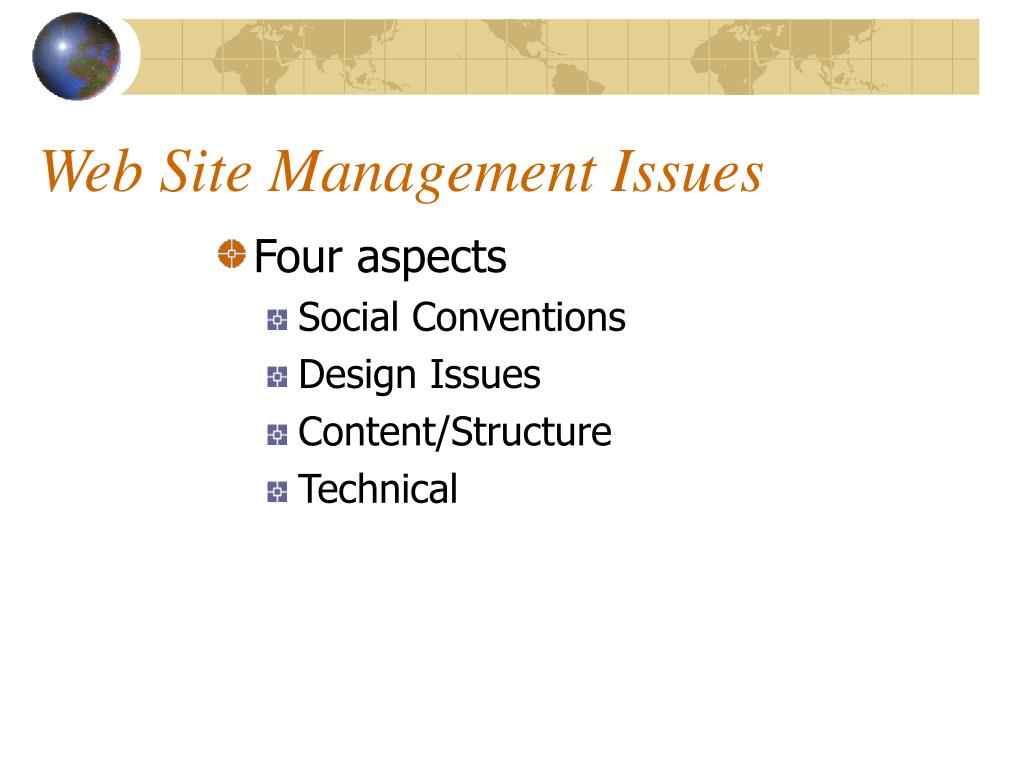 Web Site Management Issues