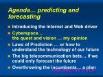 agenda predicting and forecasting