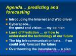 agenda predicting and forecasting35