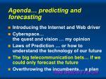 agenda predicting and forecasting73