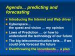 agenda predicting and forecasting87