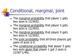 conditional marginal joint