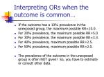 interpreting ors when the outcome is common1