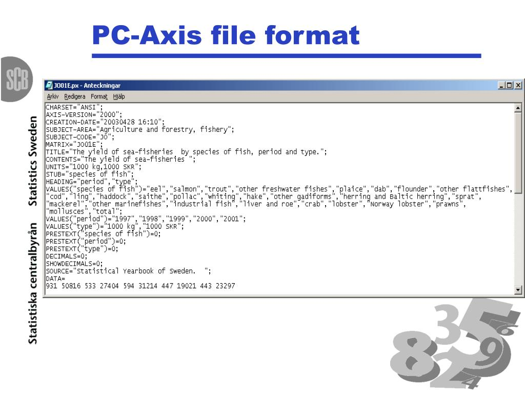 PC-Axis file format
