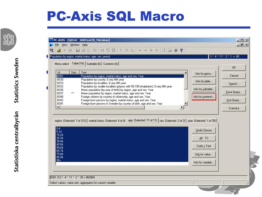 PC-Axis SQL Macro