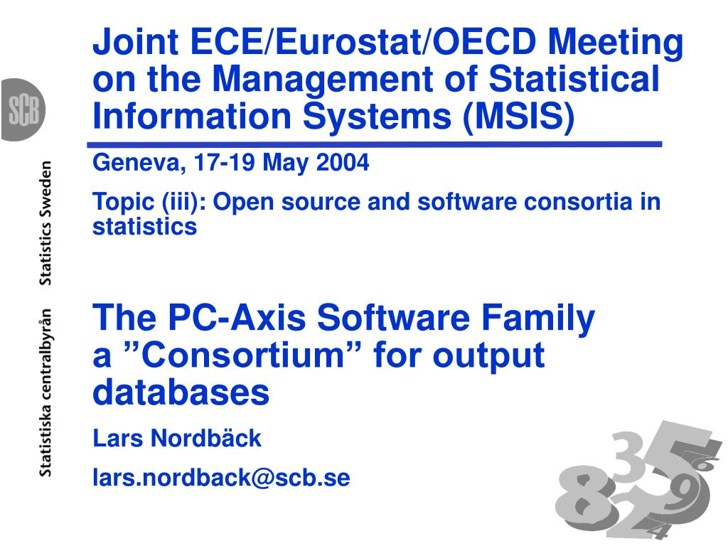 Joint ECE/Eurostat/OECD Meeting on the Management of Statistical Information Systems (MSIS)
