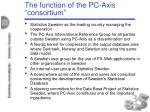 the function of the pc axis consortium