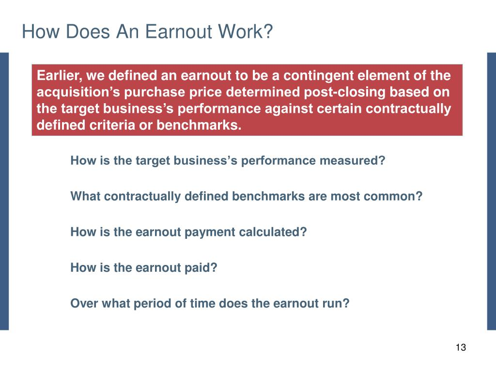 How Does An Earnout Work?