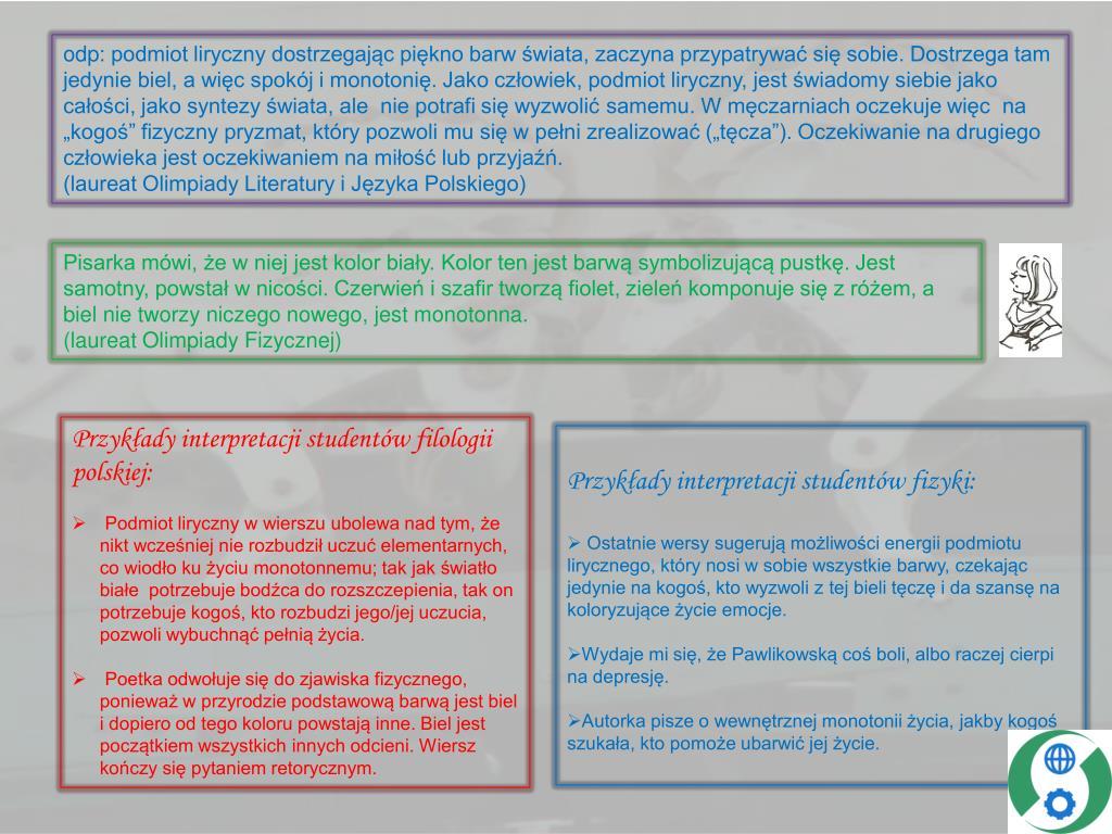 Ppt Zderzenie Literatury Z Fizyką Powerpoint Presentation