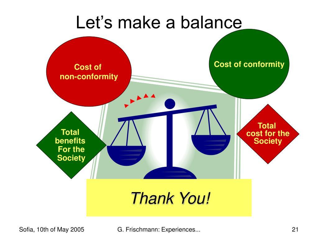 Let's make a balance