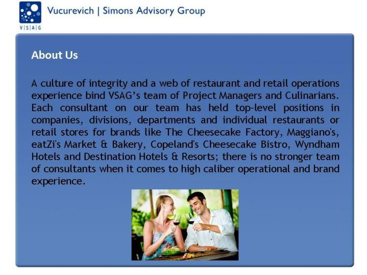 Vsag restaurant consultants food services consulting management advice