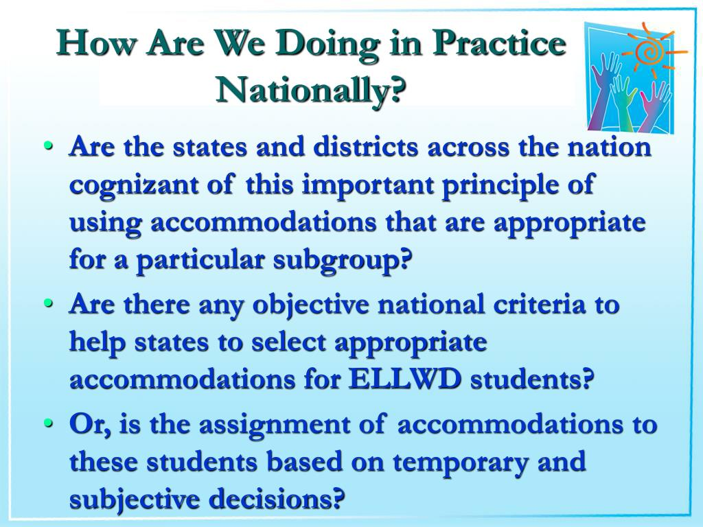 How Are We Doing in Practice Nationally?