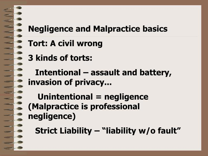 malpractice and gross negligence Read this essay on negligence, gross negligence or malpractice come browse our large digital warehouse of free sample essays get the knowledge you need in order to pass your classes and more.