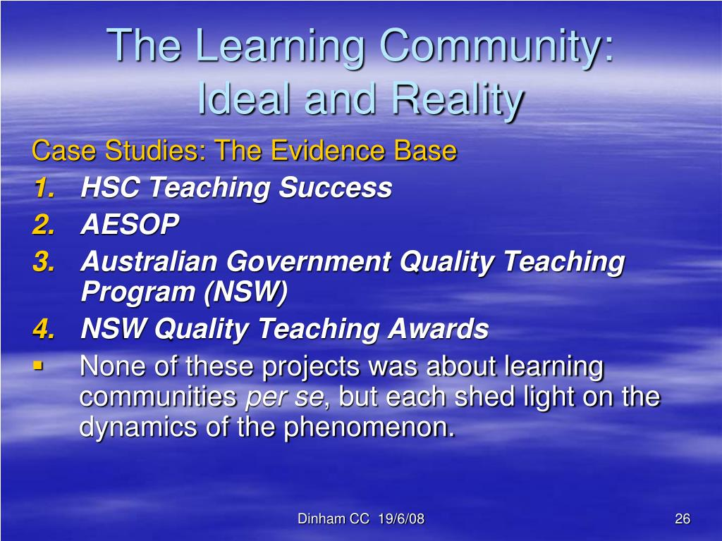 The Learning Community: