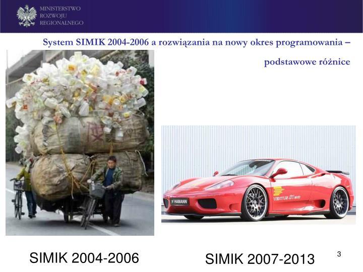 System simik 2004 2006 a rozwi zania na nowy okres programowania podstawowe r nice3