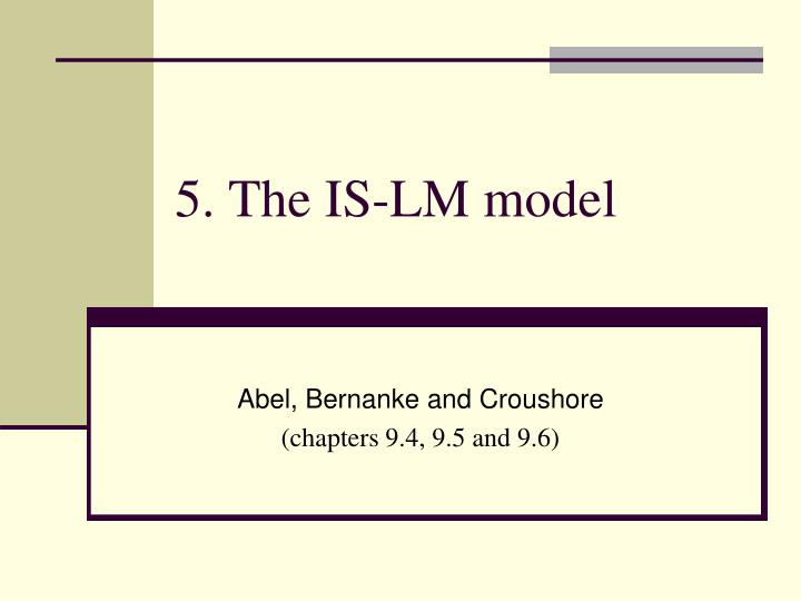 5 the is lm model