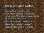 range of motion active