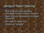 range of motion passive