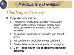 challenges overseas50