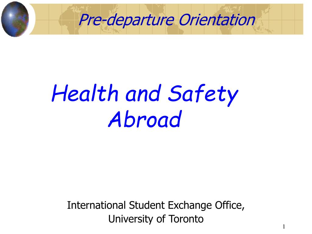 health and safety abroad l.
