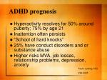 adhd prognosis