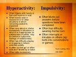 hyperactivity impulsivity