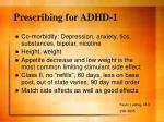 prescribing for adhd 1