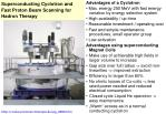 superconducting cyclotron and fast proton beam scanning for hadron therapy