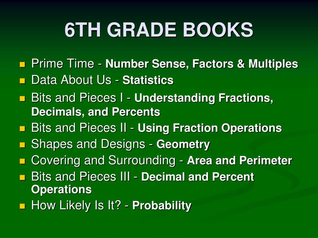 6TH GRADE BOOKS