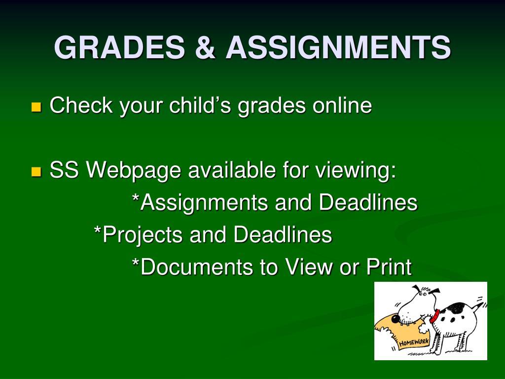 GRADES & ASSIGNMENTS