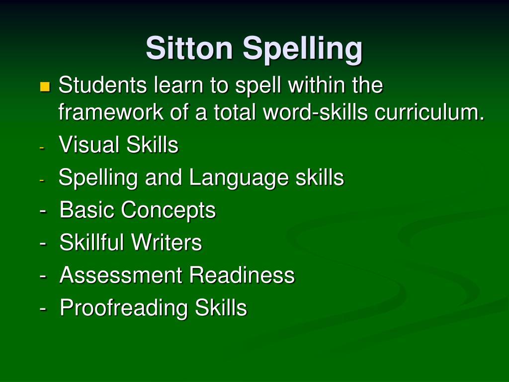 Sitton Spelling