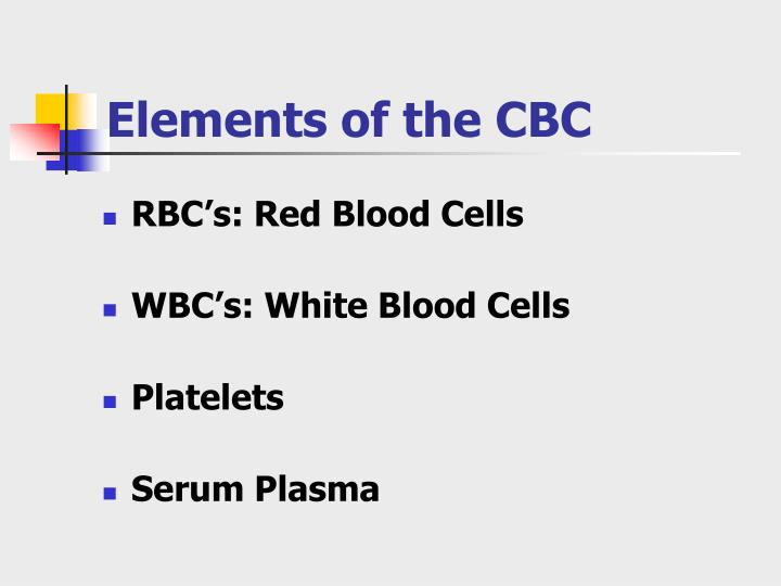 Elements of the cbc