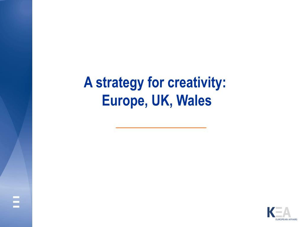 A strategy for creativity: