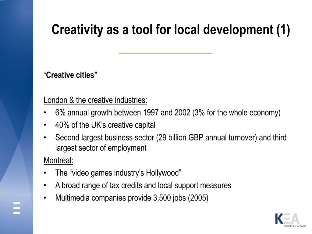 Creativity as a tool for local development (1)