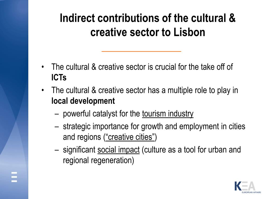 Indirect contributions of the cultural & creative sector to Lisbon