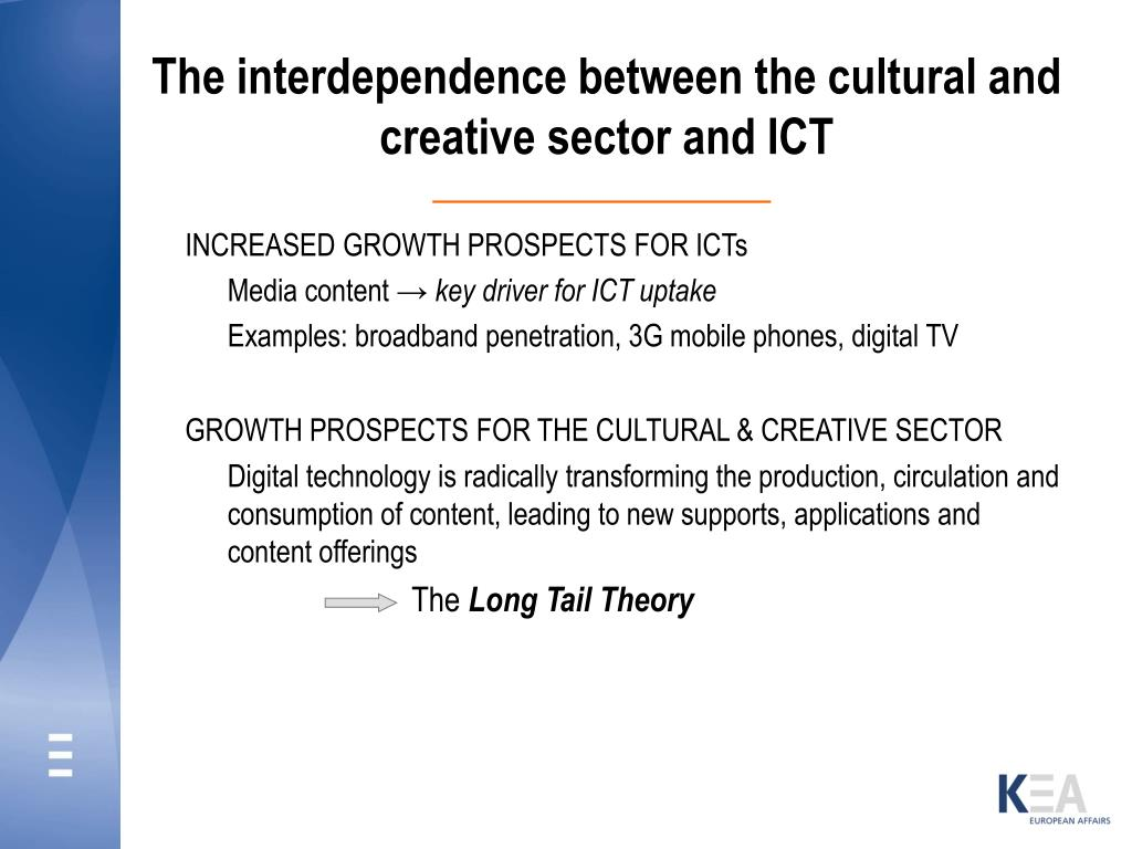 The interdependence between the cultural and creative sector and ICT