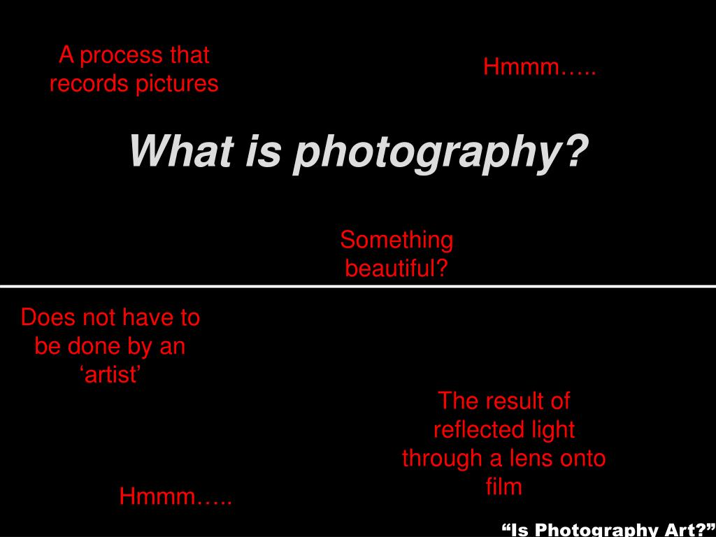 A process that records pictures