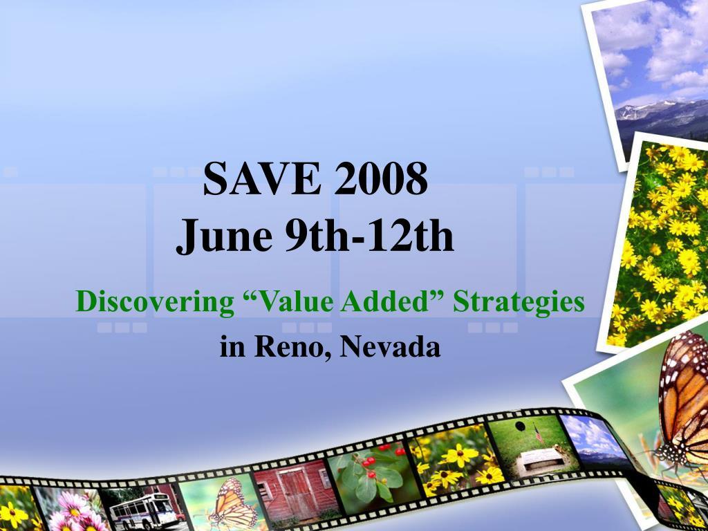 save 2008 june 9th 12th l.