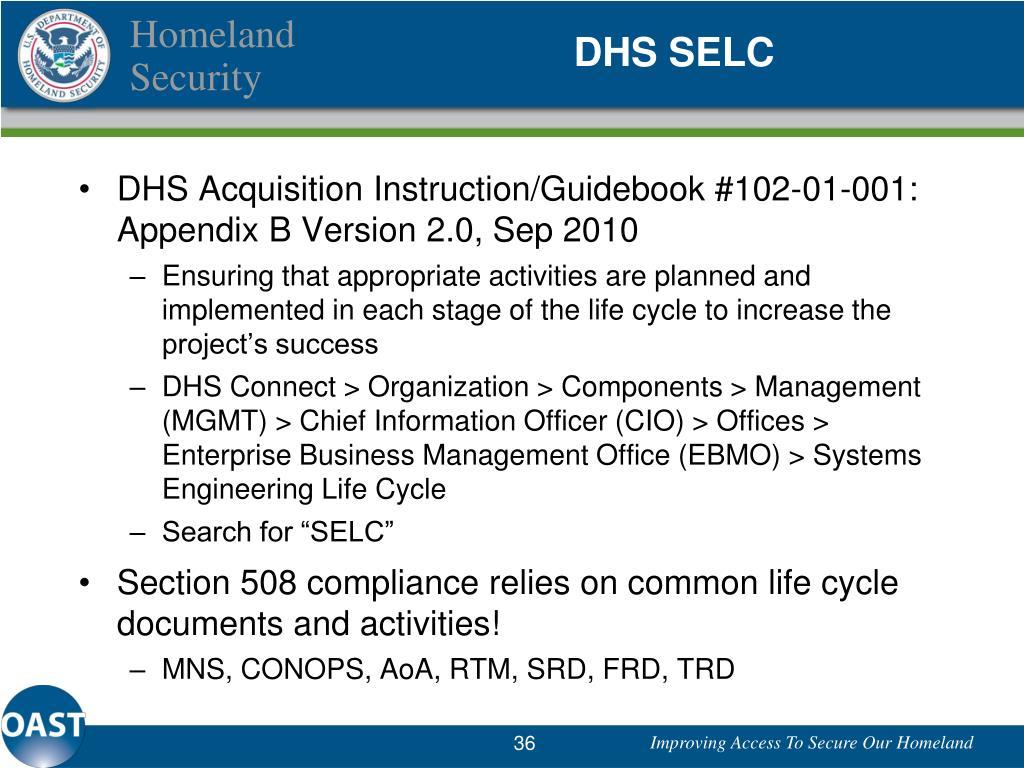 DHS SELC