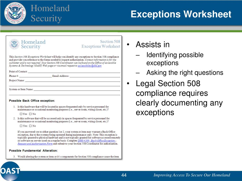 Exceptions Worksheet