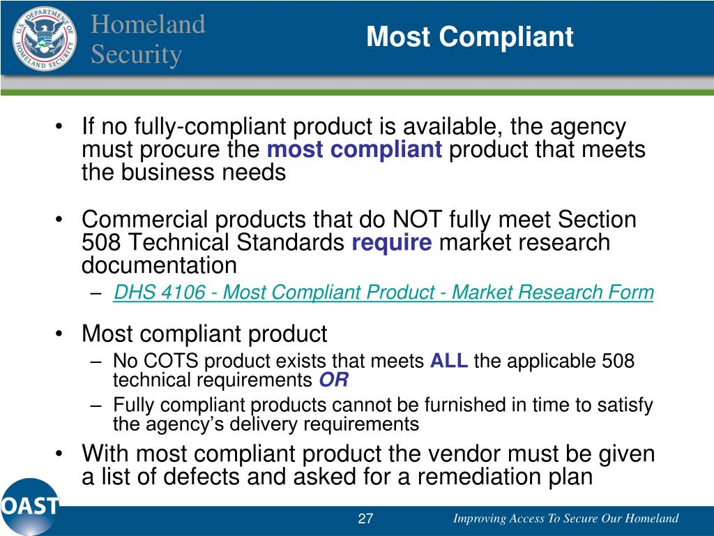 Most Compliant